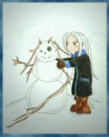 Sephy Making a Snowman by Folkeye
