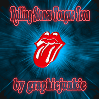 Rolling Stones Glass Icon by graphicjunkie