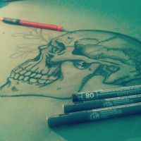 Skull by SketchingIntheClouds