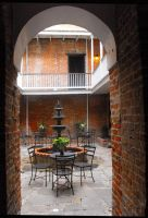 Lalaurie House Courtyard by SalemCat