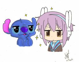 stitch and yuki color by hitmak