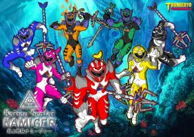 Kaijou Sentai NAMIGER wallpaper version by thunderyo