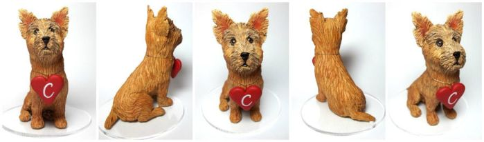 Norwich Terrier Cake Topper by christyrenee