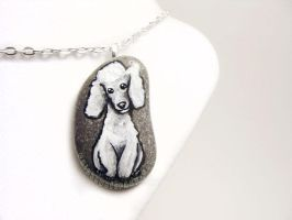 Poodle Pendant Necklace by sobeyondthis