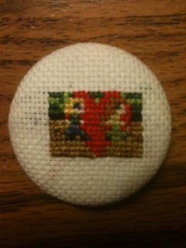Passage Cross-stitched Button by Romaen