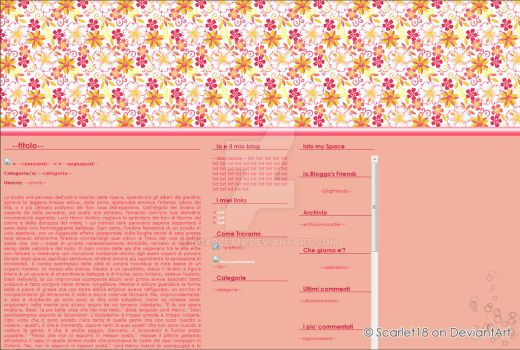 Spring Pink Blog Layout by Scarlet18