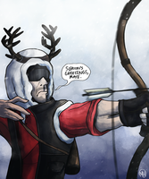 Season's greetings, mate. by monkette
