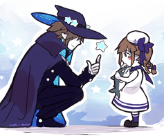 FA : The Great Sorcerer and his daughter by Moriusii