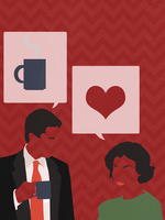 Agent Cooper and Audrey by attractivemonkey