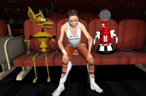 Chell doesn't like this experiment. by Pika-Robo