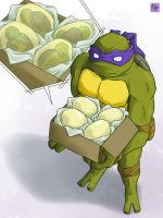 Point commisstion - 2k3 Donatello and eggs by mukuto