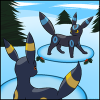 A WILD UMBREON APPEARED! by SenseiMac