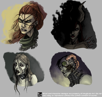 Multi-Character Busts by InkyBrain
