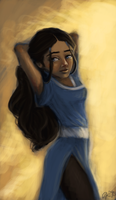 Katara standing there funny by greendesire