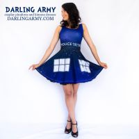 Galaxy TARDIS Doctor Who Cosplay Dress by DarlingArmy