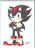 Classic Shadow the Hedgehog by Robie-Chan