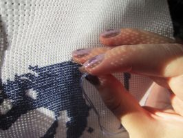 Stitching in sunlight by Santian69