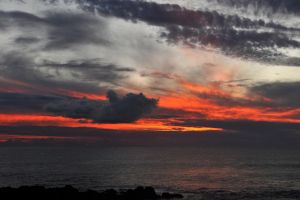 Rapa Nui sunset 1 by wildplaces