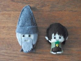 Gandalf and Frodo Pocket Chibis by PocketChibisAndSuch
