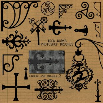 PS Brushes: Iron Works by HGGraphicDesigns