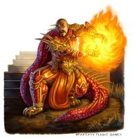 Fire Wizard for Talisman by feliciacano