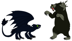 Toothless Vs Mor'du by Brermeerkat16