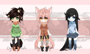 Cute Kemonomimi Adopts [CLOSED] by xYuujin-Adopts