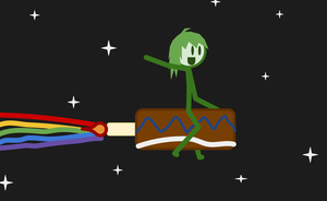 Nyan Space Cake by thisthatagain