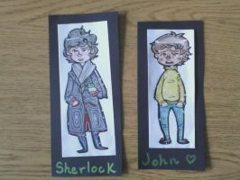 SHERLOCK bookmarks by Jaaked