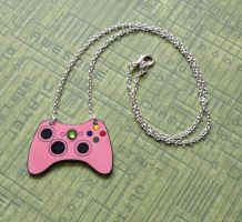Pink Xbox Controller Necklace by PlayBox-Designs