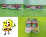 SpongeBob baby shoes by anapeig