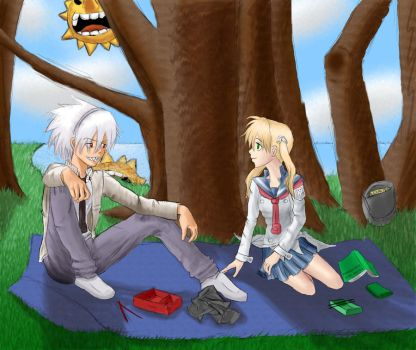 Picnic for Two by Shinigami-Shi