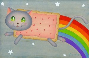 Pop-Tart Cat by SyraCourage