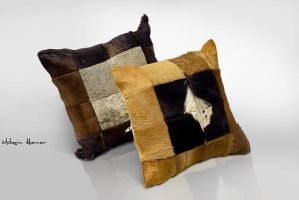 Leather Cushion covers brown by mohsinkhawar