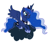 Luna on a Cloud by Maishida