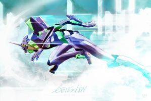 Evangelion Unit 01 - Shinji Ikari's Ride. by studiomuku