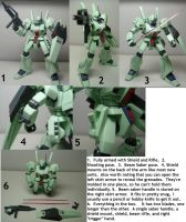 HGUC Jegan Review Part 2: Accesories and Poses by Blayaden