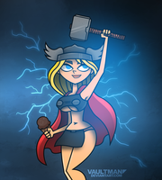 Lindsay as Thor - Commission by VaultMan