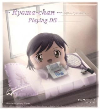Ryoma Chan Playing NDS game by Kauthar-Sharbini
