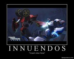 Transformers: Prime Knock Out and Smokescreen by Onikage108
