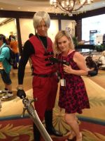Kari Wahlgren and Dante by DartFeld
