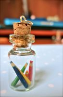 Colour pencils in a jar necklace by gracelyt