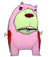 Pink Armless Bear by JackHook