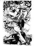 Mike Lilly Nightwing inks by JosephLSilver