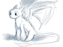 Toothless Doodle by SweetasTea