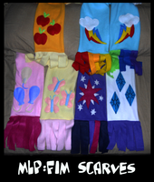MLP FiM Character Scarves by sophiecabra