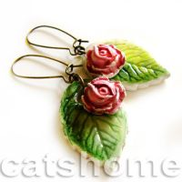 spring earrings 1 by catshome by catshome