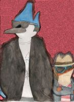 Mordecai and Rigby by Amalockh1