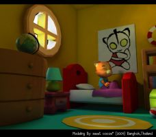 thesis_bedroom_3d by sweetcocoa