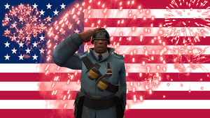 The BLU Patriotic Soldier by LoudNoises